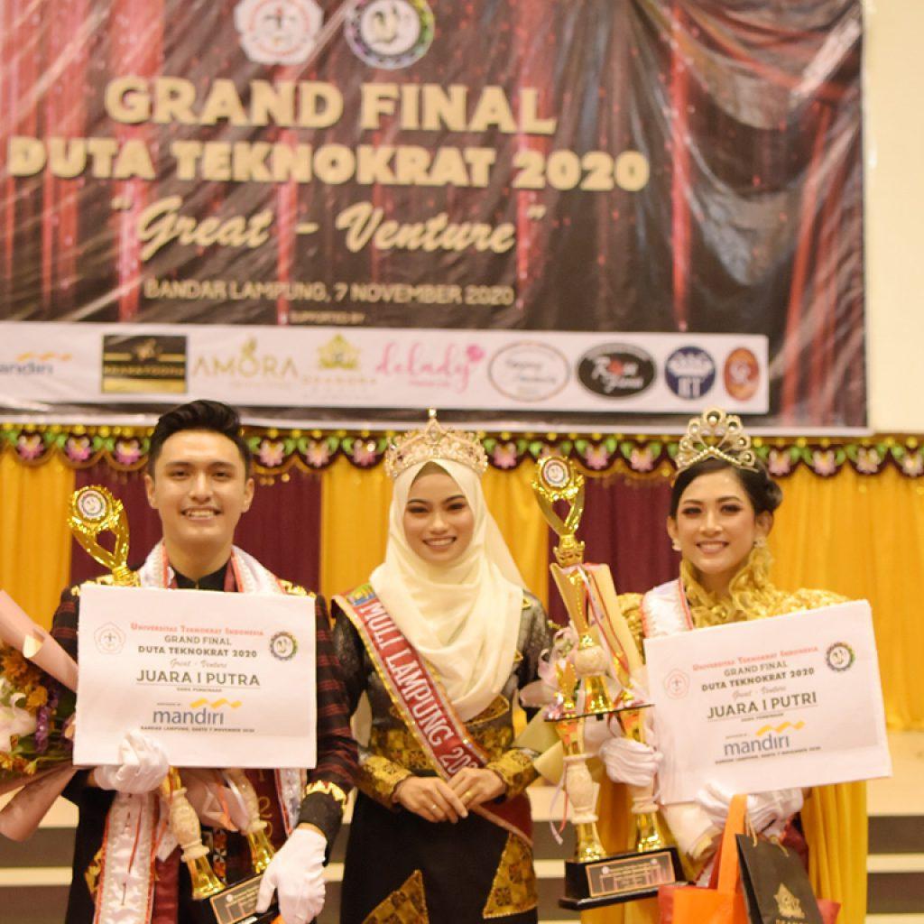 Universitas Teknokrat Sukses Gelar Grand Final Duta Teknokrat 2020, Ini Para Juaranya